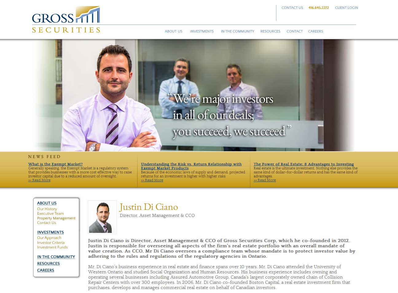 Gross Securities Investment Website