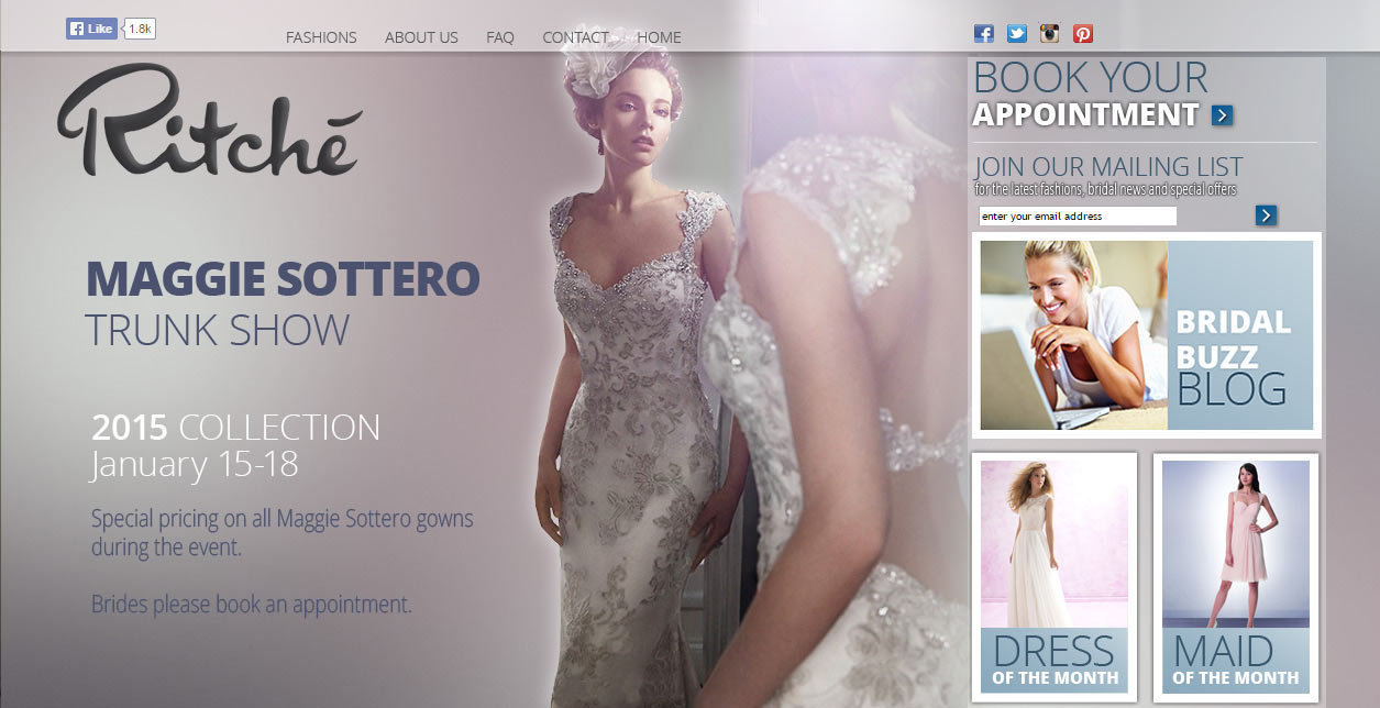 Ritche Bridal Web Design and Development