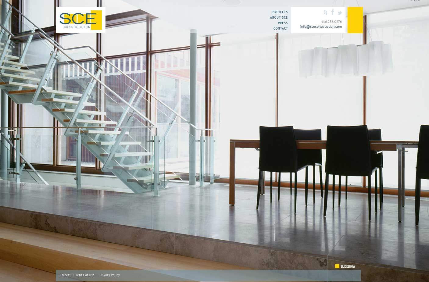 SCE Construction Online Portfolio Website