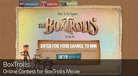 Web Design for BOXTROLLS