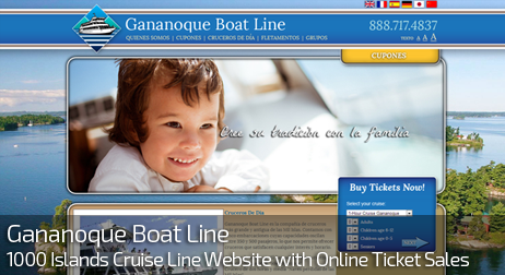 Web Design for GANANOQUE BOATLINES