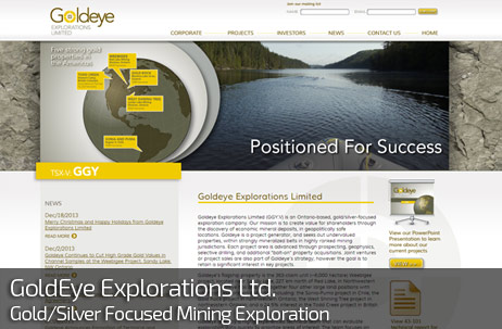 Web Design for GOLDEYE EXPLORATIONS LIMITED