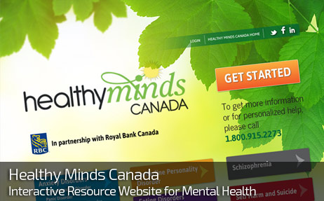 Web Design for HEALTHY MINDS CANADA
