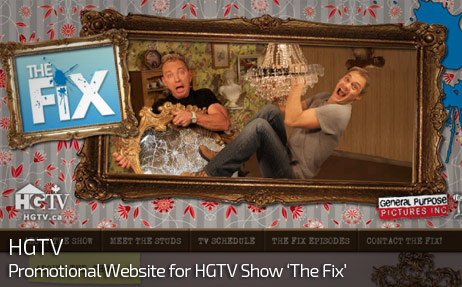Web Design for HGTV's The Fix