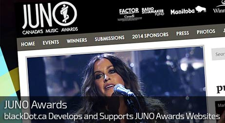Web Design for JUNO AWARDS