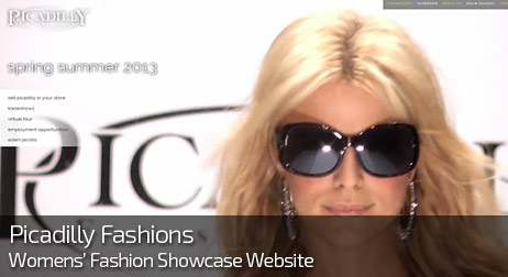 Web Design for PICADILLY FASHIONS