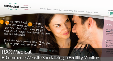 Web Design for RAX MEDICAL