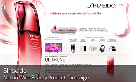 Web Design for SHISEIDO