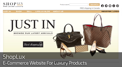 Web Design for ShopLux Luxury E-Commerce Store