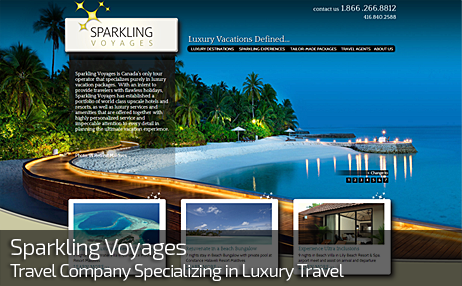 Web Design for SPARKLING VOYAGES