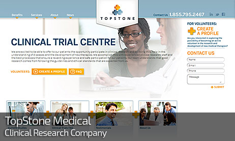 Web Design for TOPSTONE MEDICAL